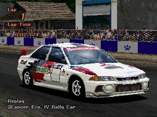 Mitsubishi Lancer Evolution IV Rally Car