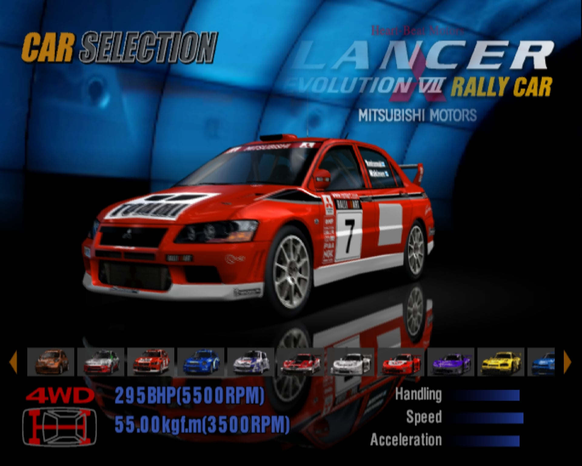 Mitsubishi Lancer Evolution VII Rally Car '01