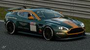 Aston Martin Vantage Gr.4 Michelin Tire Sticker (Dark Green-Orange)