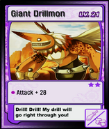 Giant Drillmon Card