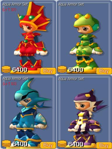 Aqua Armor Set
