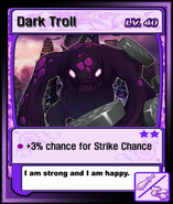 Dark Troll Card