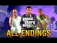 GTA 5 - All Endings - Final Missions