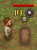 The graveyard keeper digs up a corpse