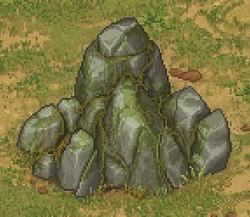 A larger stone deposit