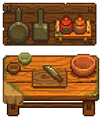 This is how the cooking table looks