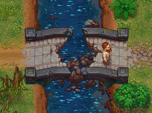 Unreparierte Steinbrücke