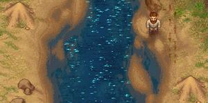 Sandberg Vorkommen am Fluss