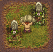 Burying a corpse in the graveyard