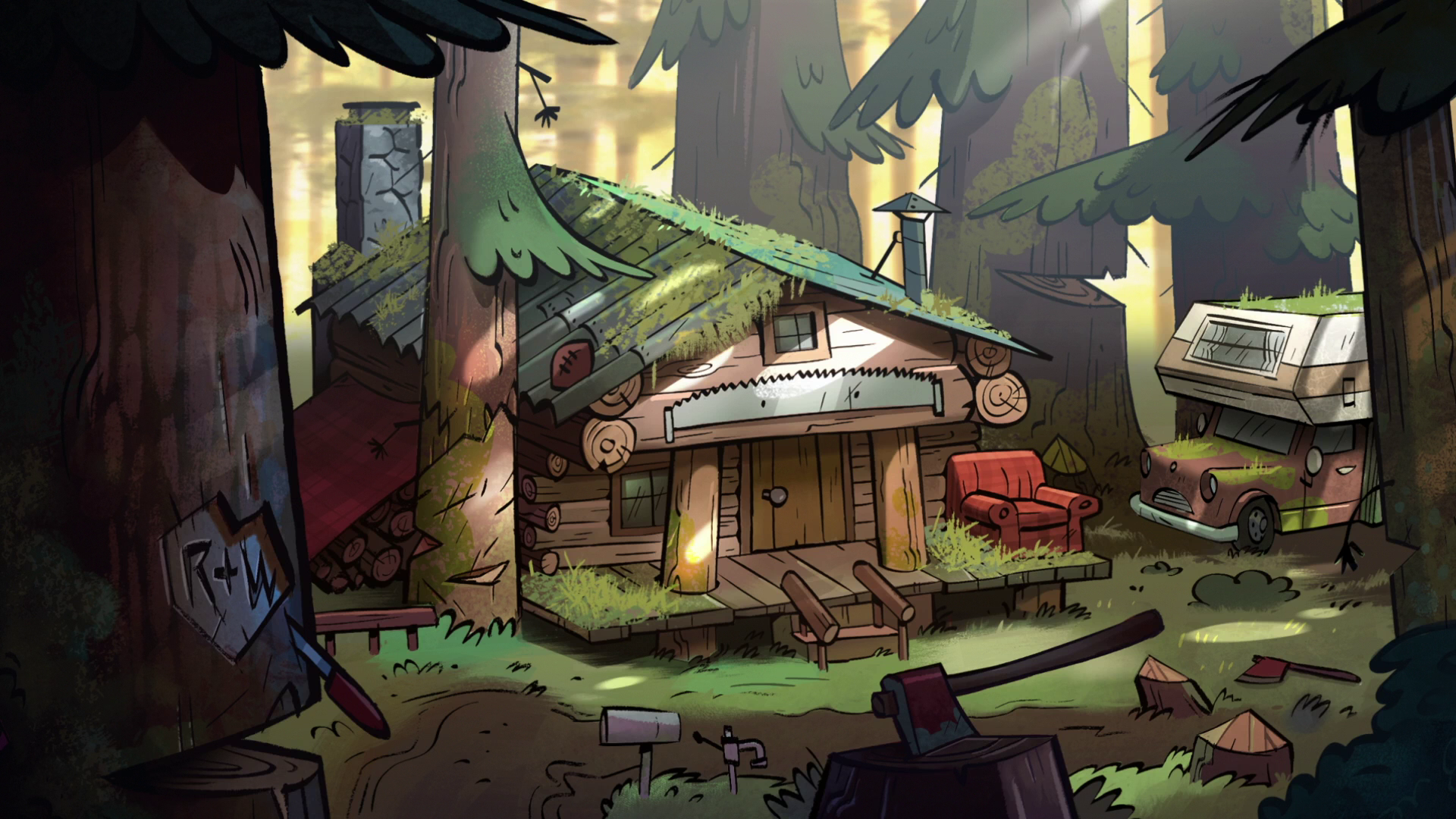 Corduroy cabin