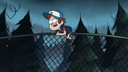 S1e5 dipper on fence