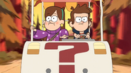 S1e1 dipper and mabel in the cart