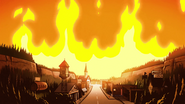 S1e20 Gravity Falls on fire