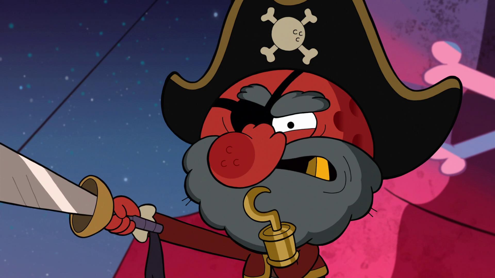 Lilliputtian pirate captain