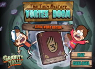 The Twin Mystery Vortex of Doom new game menu