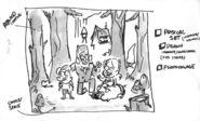 Gravity Falls Pines family sketch