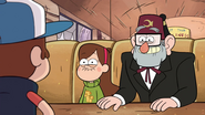 S1e6 Mabel and Grunkle Stan about to laugh