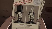 S1e8 lincoln's hat