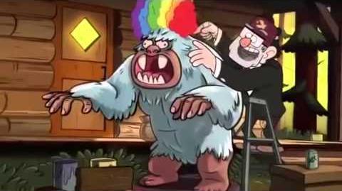 Putting A Rainbow Wig, On A Big White Gorilla.
