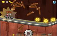 Game mystery tour ride crashing into logs