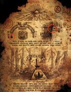 Bill Cipher statue torn page