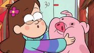 S1e9 mabel holding waddles cheeks
