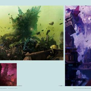 "Gravity Daze Series Official Art Book /""Douya Rejavi Saaeju/"" JAPAN"