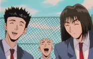 The Trio Laughing