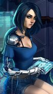 Blue-hair-girl-science-computer-art-picture iphone 1080x1920