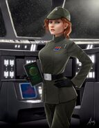 Kayla disguised as an imperial officer
