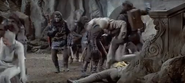 Apes taking prisoners