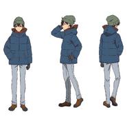 Makoto Edamura Character Sheet - Cold Outdoor Wear