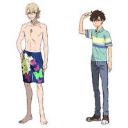 Laurent Thierry - Character Sheet - Swinsuit - Makoto Edamura - Warm Outdoor Wear