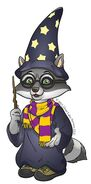 Oliver-Raccoon Wizard Howloween Copyrighted