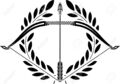 23022062-bow-and-laurel-wreath-stencil-illustration--Stock-Vector-archery-bow-arrow