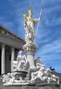 Austria Parlament Athena bw