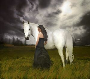 A girl and her horse by grauherz-d5hk85e.jpg