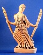 Hecate-with-torches-gold-color-finish-SS-HEC
