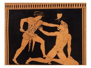 Lecomte-victory-of-theseus-over-the-minotaur-after-a-greek-vase-painting