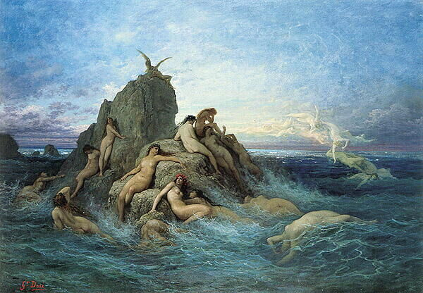Oceanids by Gustave Doré