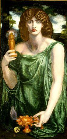 220px-Mnemosyne (color) Rossetti.jpg