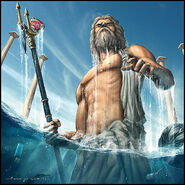 Poseidon Emerges from Water