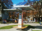 Public solar charger for mobile devices Strawberry Tree