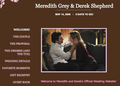 Meredith and Derek's Wedding Website
