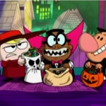 Billy, Irwin and Mandy in Halloween costumes.png