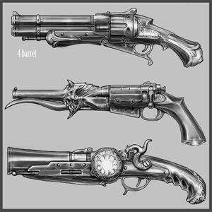 Havoc, Deviltongue, and Arcanum Sigilus Guns Concept Art.jpeg