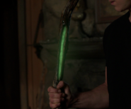 613-Missing part of staff glows