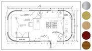 613-BTS Airstream Trailer blueprint design