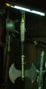 112-Labrys in weapons cabinet