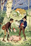 Hans im Glueck Fritz Baumgarten um 1935 Postkarte